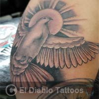 black and grey tattoo image
